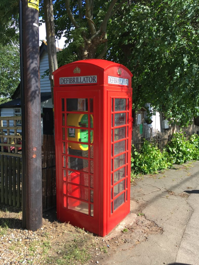 Defibrillator, Old Phone Kiosk, The Street
